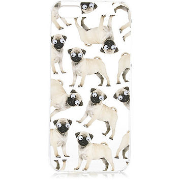 River Island Womens White googly eye pug iPhone 5 phone case