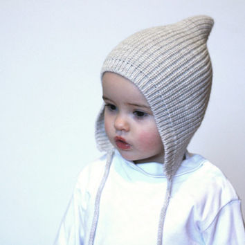 Pixie knit hat - Baby Pixie bonnet - Knitted hat Pixie - Elf knit hat 819276d855b