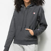 Champion Reverse Weave Heather Granite Hoodie | Zumiez