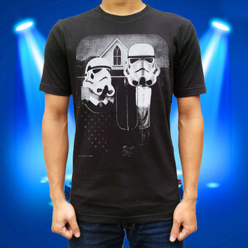 Star Wars American Gothic Parody For Men And Women T Shirt Cotton