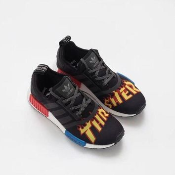 Thrasher x Adidas NMD R1 Boost Trending Fashion Casual Running Sneakers Shoes G