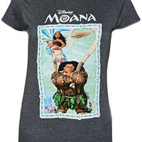 Disney Moana Maui Palm Group Juniors T-shirt