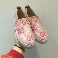 Gucci Fashion Canvas Flats Sneakers Sport Shoes