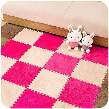30*30CM  Childrens Soft Magic Jigsaw Splice Puzzle Rug