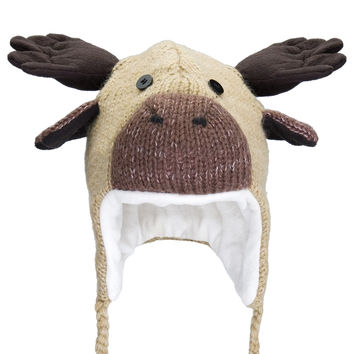 Manny The Moose Kids Peruvian Knit Hat