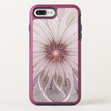 Floral Fantasy, Abstract Modern Pastel Flower OtterBox Symmetry iPhone 8 Plus/7 Plus Case