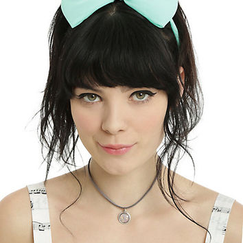 Blackheart Mint & Black Large Bow Headband 2 Pack
