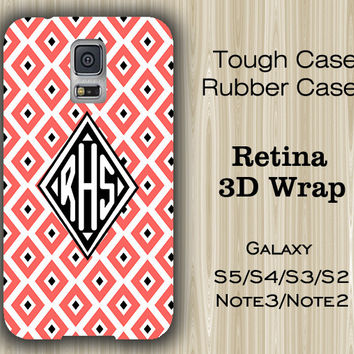 Red Geometric Monogram Samsung Galaxy S5/S4/S3/Note 3/Note 2 Case