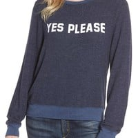 Dream Scene Yes, Please Sweatshirt | Nordstrom