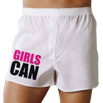 Girls Can Boxer Shorts by TooLoud