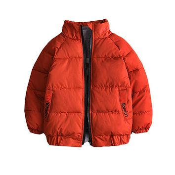 New Arrival Children Clothing Long Sleeve Kids Boys Winter Jacket Outerwear Baseball Coat Keep Warm Girls Cotton-padded Overcoat