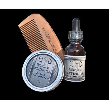 Bundle: Beard Oil , Balm , Comb