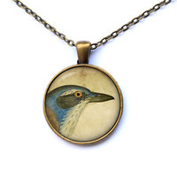 Jay pendant Animal necklace Bird jewelry CWAO39