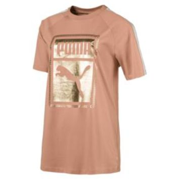T7 Chains Women's Tee | Dusty Coral | PUMA Shoes | PUMA United States