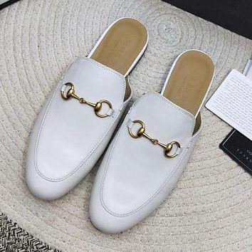 Gucci Women Fashion Casual Flats Shoes Slipper Shoes