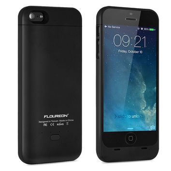 FLOUREON External Protective iPhone 5 5S Battery Backup Charger Case Power Bank = 1841869060