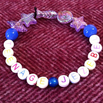 Teenage Jezebel bracelet. Party girl, slut, bad girl, rebel grrrl. For any non-conforming women out there. Kawaii style jewellery. Handmade.