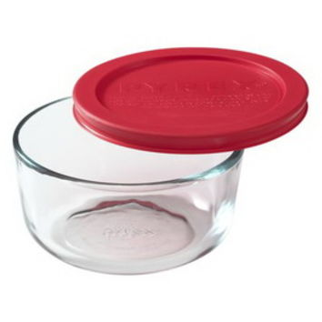 Opentip.com: PYREX 1069619 Simply Store 2 Cup Round Dish w/ Red Lid