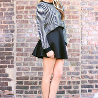 Old School Skater Skirt - Black