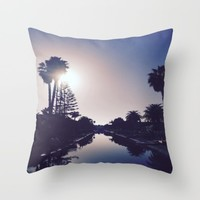 Venice Canals By Sunset Throw Pillow by Love Lunch Liftoff