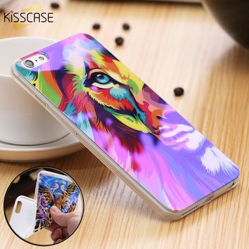 KISSCASE Blue Light Ray Soft Silicon Phone Case for iPhone 7 6 6s 8 plus Phone Cases for iPhone 5s 5 SE Ultra Thin Cover Capa