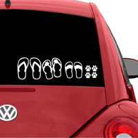 Beach Sandals Family Car Decal Sticker