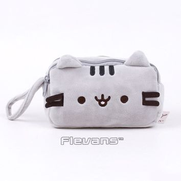 Pusheen Cat Plush Bag Coin Purse Cell Phone Bag Soft Stuffed Animal Toys Dolls