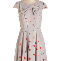 ModCloth Vintage Inspired Mid-length Cap Sleeves A-line Thrilling Throwback Dress