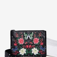 Nasty Gal Fuxury Leather Crossbody Bag - Floral