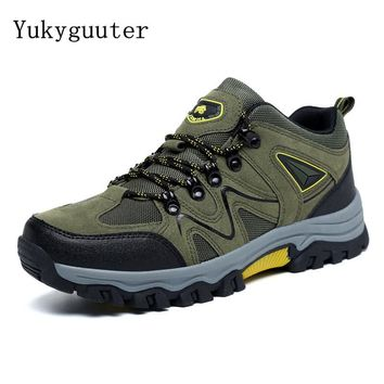 Men Hiking Shoes Outdoor Trekking Sports Men Climbing Boots Breathable Mesh Anti-skid Walking Trainers Camping Plus size 46,47