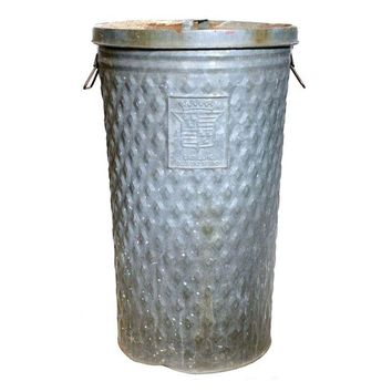 Pre-owned Cadillac Diamond Brand Stamped Trash Can