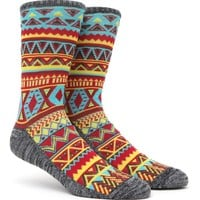 On The Byas Micro Diamonds Crew Socks - Mens Socks - Yellow - One