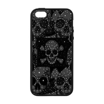 Skulls Dipped In Bling Apple iPhone 5/5S Soft Edge Hardshell Case