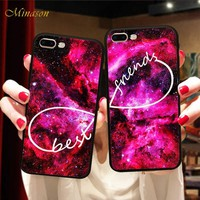 Minason Unlimited Space Deer Infinity BFF Case Cover For iPhone X 8 5 5S 6 6S 7 Plus Best Friend Forever Case Capinha de Celular