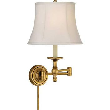 Visual Comfort and Company SL2800HAB-S Antique Brass Classic Swing Arm Sconce
