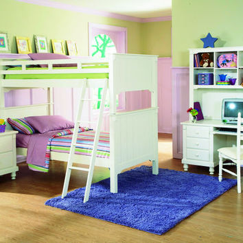 Pottery Collection Twin Bunk Bed B875W-1