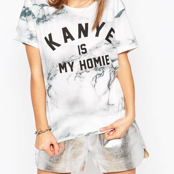 Eleven Paris T-Shirt with Kanye Is My Homie Print