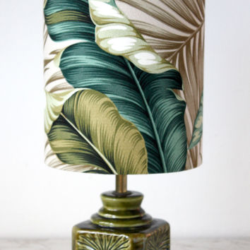 vintage banana leaf lamp
