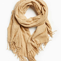 Oversized Boucle Scarf   Urban Outfitters