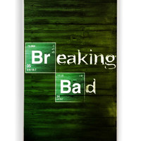 Breaking Bad On Wood for Iphone 4 / 4s Hard Cover Plastic