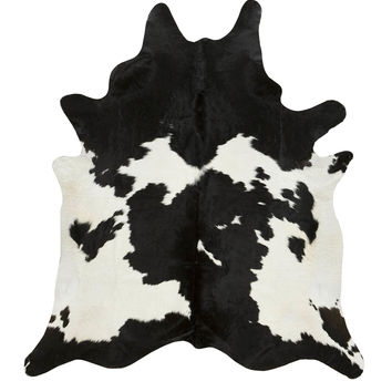 Black and White Special Brazilian Cowhide Rug
