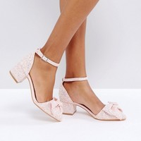 Truffle Collection Bow Mid Heel Shoe at asos.com