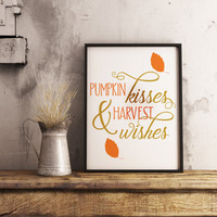 Fall decor -  Fall wall art - Pumpkin decor - Autumn wall art - Autumn decor - Autumn wall decor -  Fall decorations - Home decor -