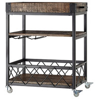 Cici Rustic Mobile Kitchen Bar & Wine Cart