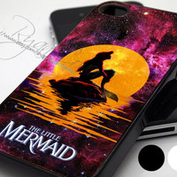 Disney The Moon Nebula Ariel  - Print Hard Case - iPhone 4/4s Case - iPhone 5 Case - iPod 4 / 5 - Black - White (Option Please)