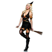 Seven Til Midnight Womens Salem Sire Halloween Party Witch Costume