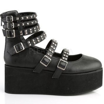 strappy studded mary jane rave shoes  number 5