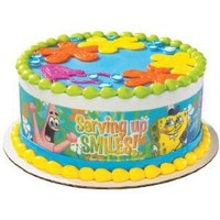Spongebob Squarepants Edible Cake Border Decoration