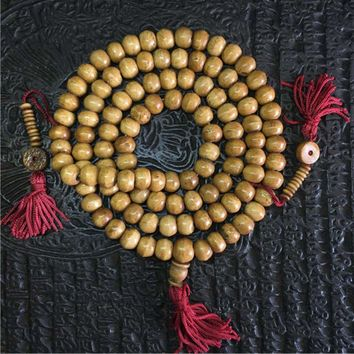 Tibetan Yak bone Meditation Prayer Beads Rosary Mala Necklace