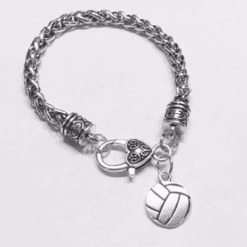 Volleyball Sports Mom Daughter Mother's Day Gift Charm Bracelet